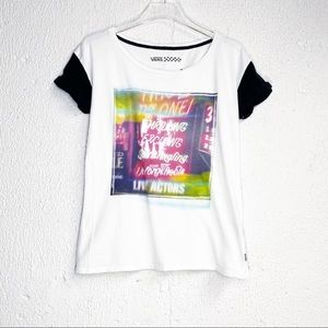 Vans Womens Tee Shirt Graphic White Small